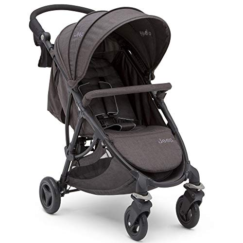 Jeep Gemini Lightweight Stroller by Delta Children with Quick/Compact Fold, Grey Tweed