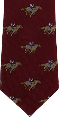 Wine Horse Racing Silk Tie by Michelsons of London