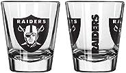 Official Fan Shop Authentic NFL Logo 2 oz Shot Glasses 2-Pack Bundle. Show Team Pride at Home, Your Bar or at
