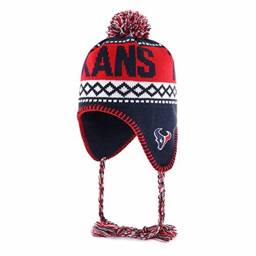 NFL Houston Texans Adult NFL Abenaki Ots Sherpa Knit Cap with Pom, One Size, Navy