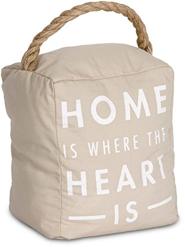 - Pavilion Gift Company 72191 Home is Where The Heart is Door Stopper, 5 x 6