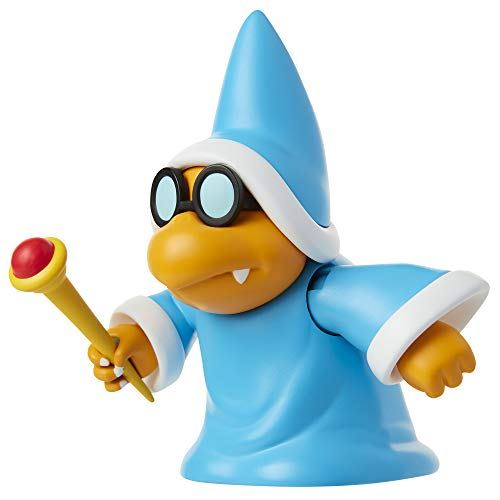"SUPER MARIO Nintendo Collectible Magikoopa 4"" Poseable Articulated Action Figure with Wand Accessory, Perfect for Kids & Collectors Alike! for Ages 3+"