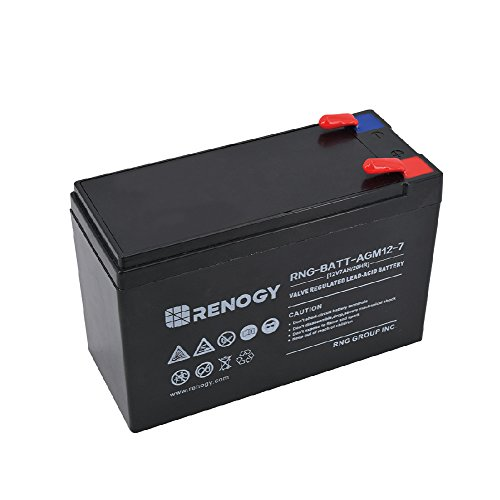 Acid Lead (Renogy 12Volt 7Ah Rechargeable Sealed Lead Acid Battery)