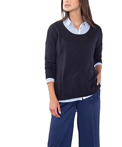 edc by Esprit 086cc1i024, Suéter para Mujer Azul (NAVY 400)