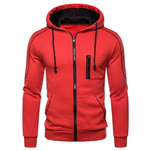 LUCAMORE Men's Autum Winter Pullover Hoodie Long Sleeve Hooded Sweatshirt Outwear Tops Blouse (Wwe Hooded Sweatshirt)