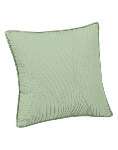 - Brielle Stream Embroidered Euro Sham, Sage