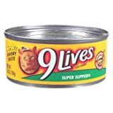 9 Lives Super Supper Canned Cat Food 5.50 oz, 4-Count (Pack of 6), My Pet Supplies