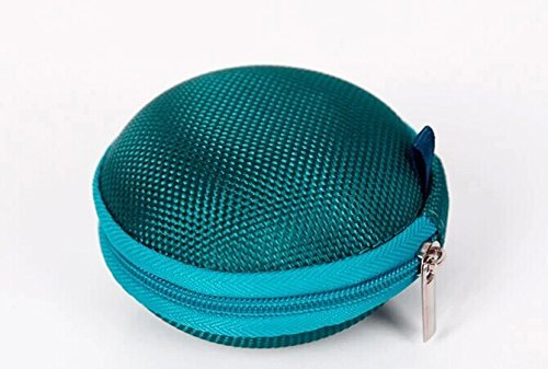 - G GEBOX Portable Earphone/USB Cable/MP3 Smart Mesh Bag Mobile in-Ear Headset Stereo Wired Carrying Case/Bag, B-Dark Green