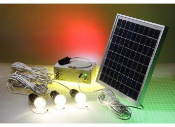 Off-grid Ledtronics Solar Powered Led 12volt, 10w Panel Lighting Kit