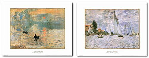 (Claude Monet Impression Sunrise and The Regatta at Argenteuil Impressionist Painting Wall Decor Picture Art Print Poster (22x28) )