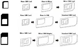3 EN 1 Cortador/Cutter para tarjetas sim nano con 3 adaptadores Nano Sim/Micro/Sim Card