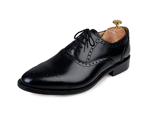 Lethato Handmade Brogue Oxford Goodyear Welted Formal Leather Dress Shoes Welted Brogue