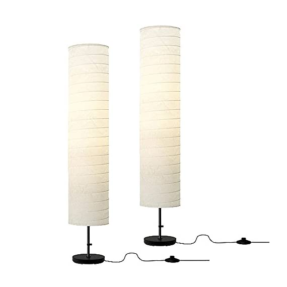"Ikea Floor Lamp, 46-inch, White (White, 2) - Product dimensions Height: 46 "" Shade diameter: 9 "" Cord length: 7 ' 3 "" Care instructions Dust the lamp with a dust cloth. Gives a soft mood light. - living-room-decor, living-room, floor-lamps - 41lq63OJvfL. SS570  -"