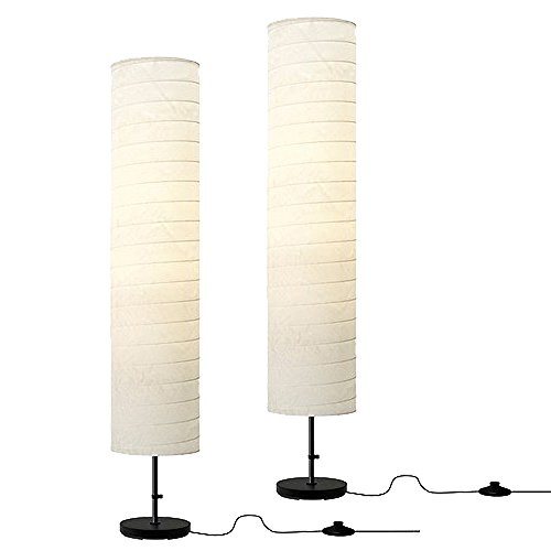 Ikea Floor Lamp, 46-inch, White (White, 2)]()