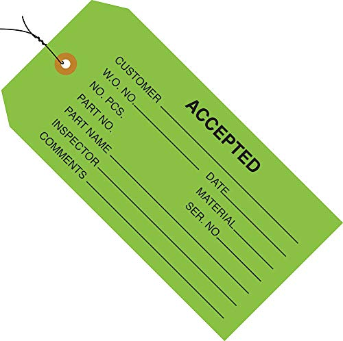 (Green 1000) Inspection Tags Pre-Wired