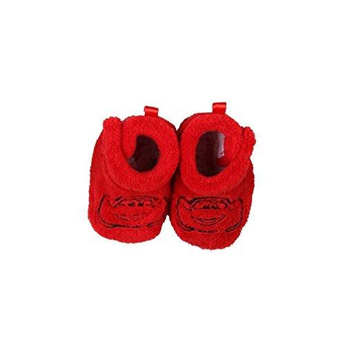 Patucos para bebé con velcro, diseño de Cars, color rojo