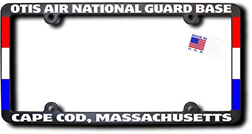 ARD BASE - CAPE COD, MASSACHUSETTS License Frame w/Reflective Text & Ribbons (Air National Guard Bases)