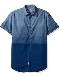 Calvin Klein Jeans Men's Short Sleeve Ombre Button Down...