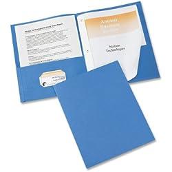 Avery Two-Pocket Folders, Light Blue, Pack of 25 (47976)