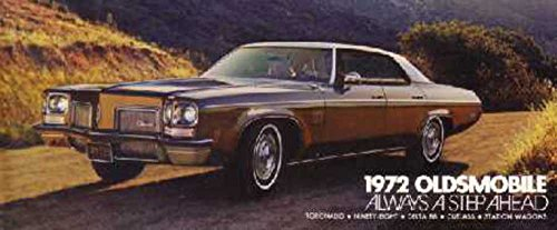 1972 Oldsmobile Sales Brochure Literature Book Advertisement Options Specs