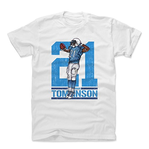 500 LEVEL LaDainian Tomlinson Cotton Shirt (X-Large, White) - San Diego Chargers Men's Apparel - LaDainian Tomlinson Sketch 21 Flip L ()