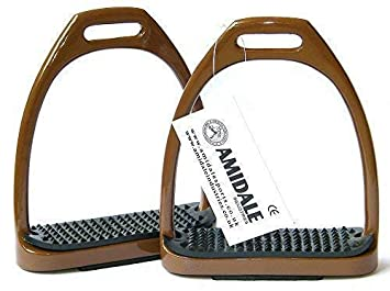 Amidale Estribos de aluminio ligeros Montura De Caballo con relieve 10 colors 3 TAMA/ÑOS Morado 5.00