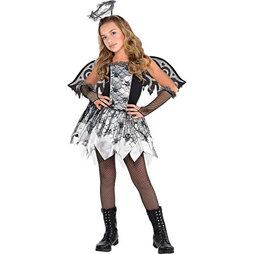Suit Yourself Fallen Angel Costume for Girls, Size Extra-Large, Includes a Dress, Wings, Glovelettes, a Halo, and More]()
