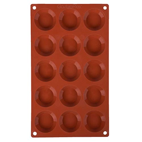 TableTop King 257925 Gastroflex Silicone 15 Compartment Mini Tart Mold
