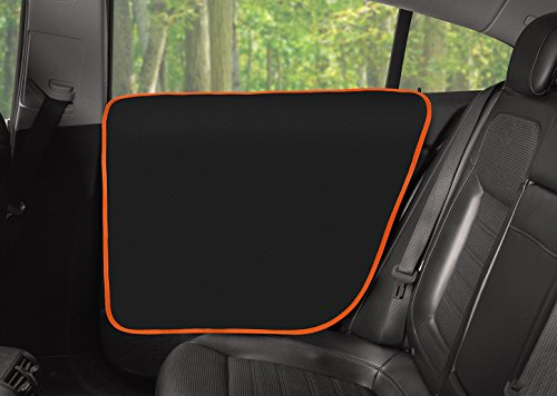 Side Door Front (WePet The original Car Window Guard for Dogs Heavy Duty Door Protector Waterproof Pet Vehicle Interior Cover Pack of 2 for Cars SUV Trucks, Anti Scratch Machine Washable Easy to Install)