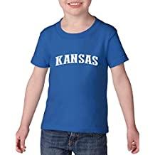 Ugo KS Kansas Map Wichita Topeka Flag Jayhawks Home Kansas University KU Heavy Cotton Toddler Kids T-Shirt Tee Clothing