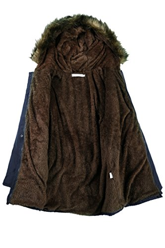 Beyove Womens Military Hooded Warm Winter Faux Fur Lined Parkas Anroaks Long Coats by Beyove (Image #3)