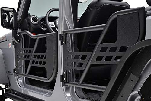 VZ4X4 07-18 Jeep Wrangler JK 4 Door Only Safari Steel Tube Tubular Doors with Side View Mirror