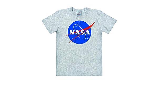 Logoshirt - NASA Logo - Camiseta Hombre - Gris vigoré - Diseño Original con Licencia: Amazon.es: Ropa y accesorios
