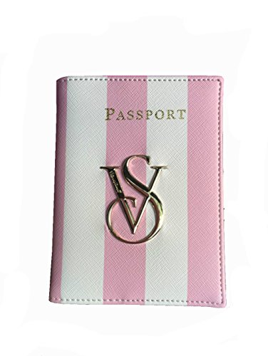 New Victorias Secret Pink Stripe Id Card Holders Bag Vs Passport Cover Case