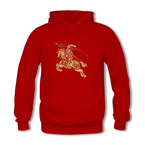 Price comparison product image Burberry Boys' and Girls' Print Pullover Classic Hoodie Sweatshirts X-Large 14-16T Red