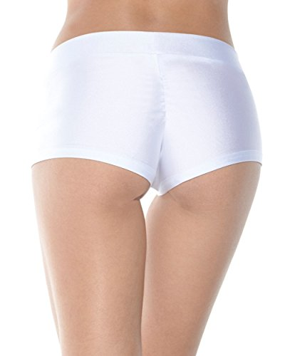 Sexy Martian Costumes (iHeartRaves Solid Rave Booty Shorts (Medium, White))