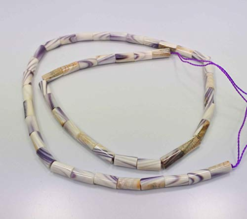 Wampum Beads Genuine 16 Inch Strand 38 Tubes Jewelry Supplies