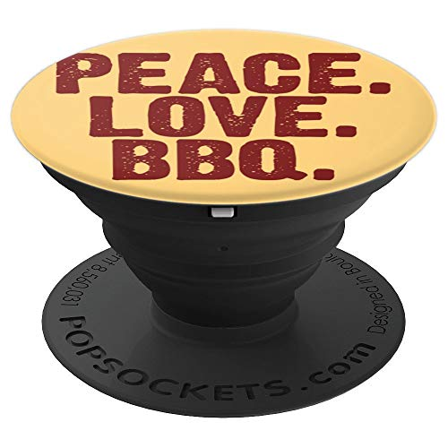 Peace. Love. BBQ. PopSockets Grip and Stand for Phones and Tablets