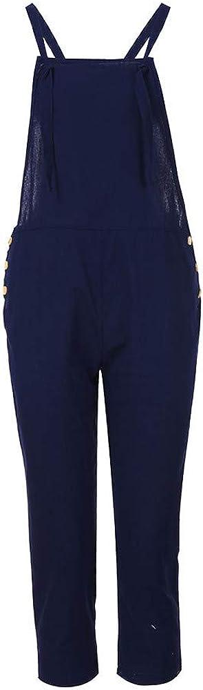 ZhixiaYS Women Spaghetti Strap Jumpsuit Wide Legs Bodycon Jumpsuit Trousers Clubwear Rompers