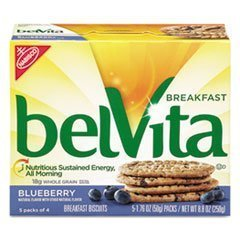 -- belVita Breakfast Biscuits, Blueberry, 1.76 oz Pack, 64/Carton by Mot2