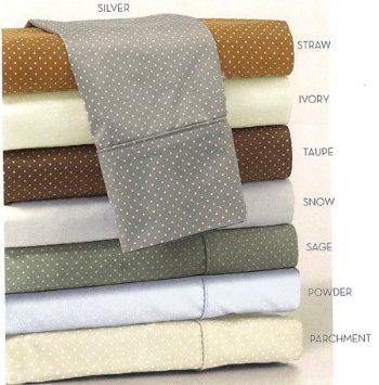 Charisma LEXINGTON DOT King Pillowcases (2), Parchment/Light Beige (Lexington Pillow)