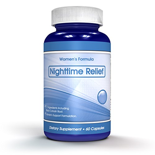 Night Time Formula - Perimenopause, Hot Flashes, Black Cohosh - Menopause Symptoms Support - More Effective than Remifemin Alone