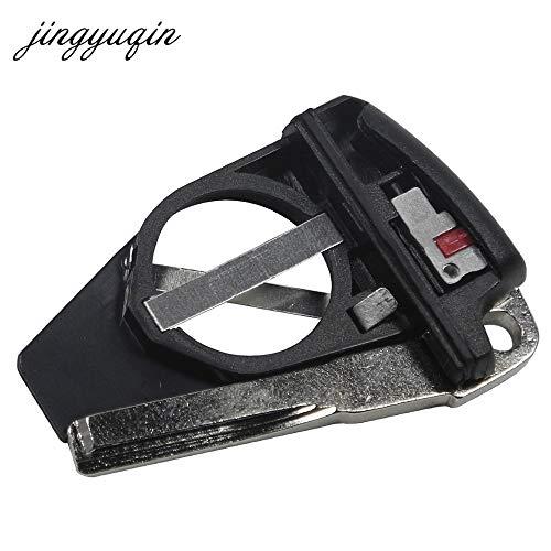 (AjaxStore - Battery Holder + Uncut Blade For Mercedes For Benz B C E ML S CLK CL Vito Black Car Key Smart Keyless Battery Clamp )
