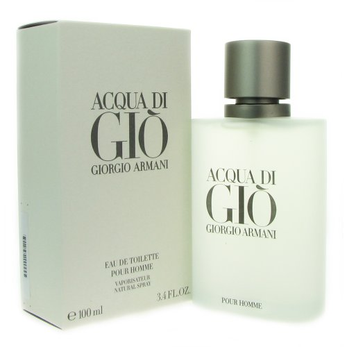 Acqua Di Gio par Giorgio Armani pour les hommes. Eau de Toilette Vaporisateur 3,4 Onces