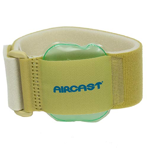 Aircast Pneumatic Armband, for Elbow, Wrist, Forearm Injuries, and Epicondylitis, Beige ()