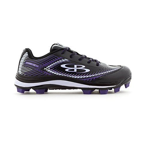 Boombah Women's Frenzy Molded Cleats Black/Purple - Size 5.5