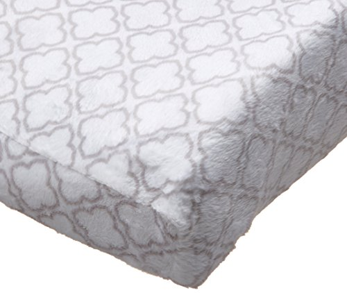 Carter's Changing Pad Cover, Grey Trellis Print, One Size