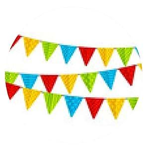 alfombrilla de ratón banderas del partido del color aislados en blanco - ronda - 20cm