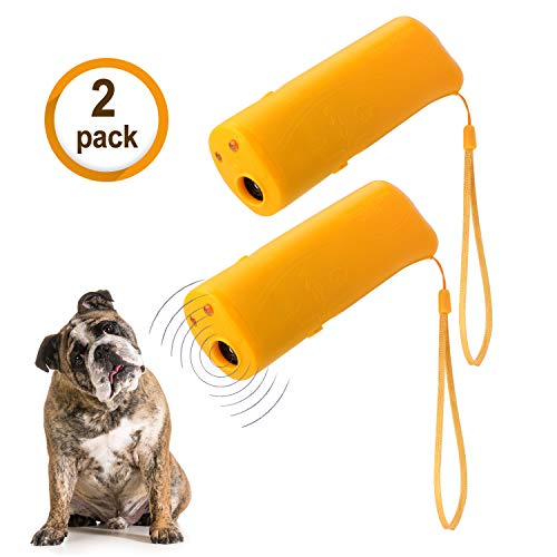 WIRSV 2pack Dog Repeller,3 in 1 Anti Barking Stop Bark Ultrasonic Pet Dog...