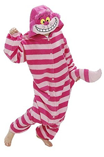Cheshire Cat Unisex Anime Cosplay Romper Outfit -